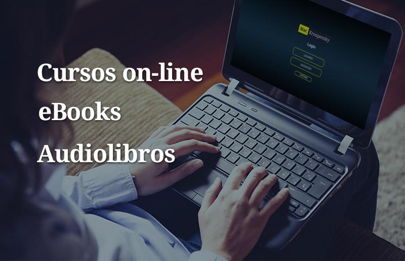 Cursos on-line eBooks Audiolibros